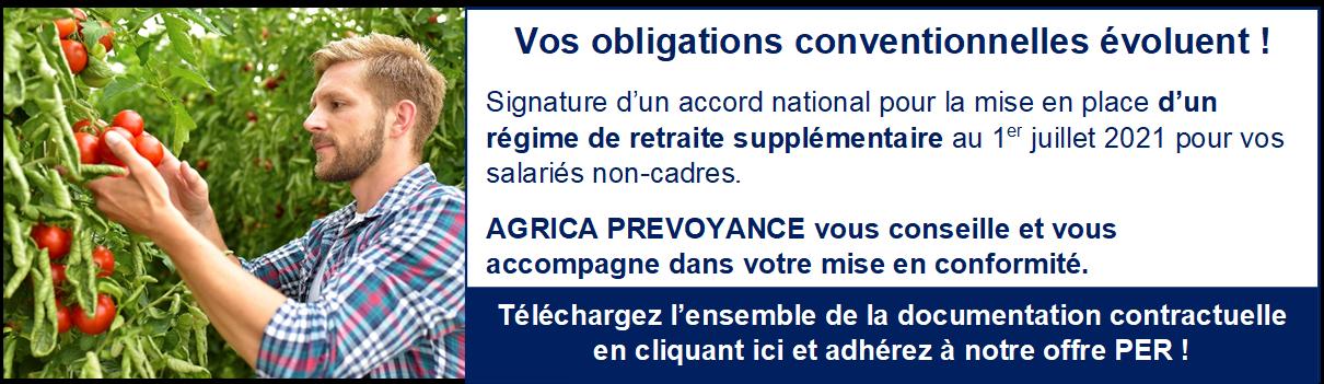 PER CPCEA EN POINTS OBLIGATION CONVENTIONNELLE PRODCUTION AGRICOLE NON CADRE